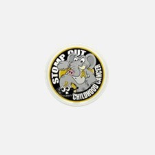Stomp-Out-Childhood-Cancer-Circle Mini Button
