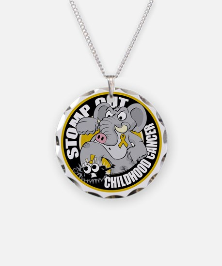 Stomp-Out-Childhood-Cancer-C Necklace