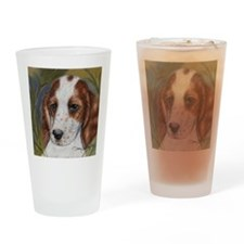 Red and White Setter Drinking Glass