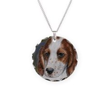 Red and White Setter Necklace
