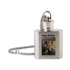 Happy Birthday from Kentucky Flask Necklace