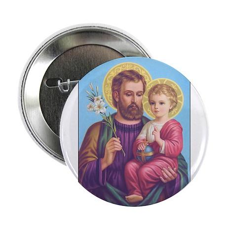St. Joseph with Jesus Button