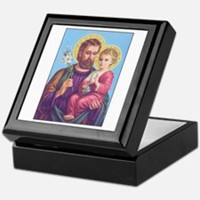 St. Joseph with Jesus Keepsake Box