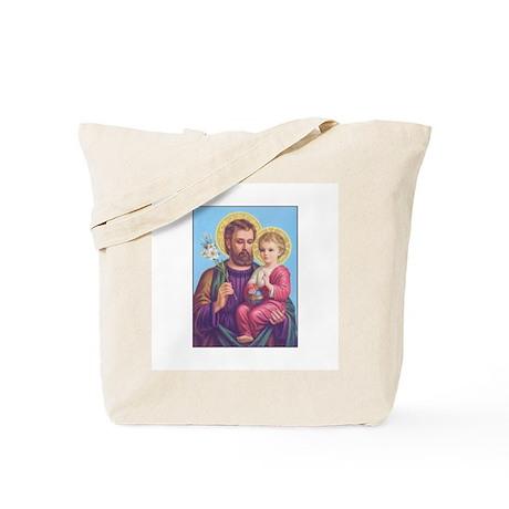 St. Joseph with Jesus Tote Bag