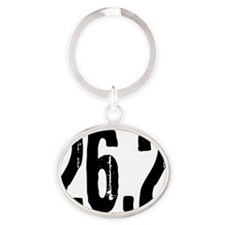 26.2_blacksticker Oval Keychain