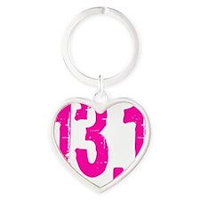 13.1_pinksticker Heart Keychain