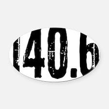 140.6_black Oval Car Magnet