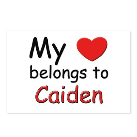 My heart belongs to caiden Postcards (Package of 8