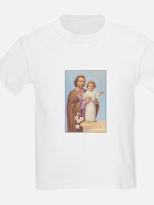Saint Joseph - Baby Jesus Kids T-Shirt