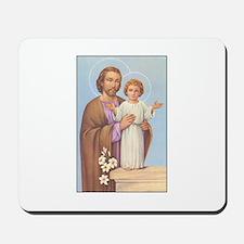 Saint Joseph - Baby Jesus Mousepad