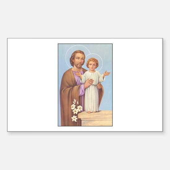 Saint Joseph - Baby Jesus Rectangle Decal