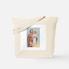 Saint Joseph - Baby Jesus Tote Bag