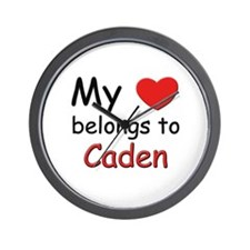 My heart belongs to caden Wall Clock