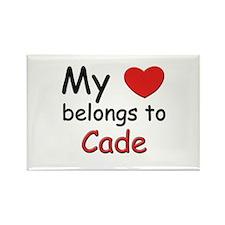 My heart belongs to cade Rectangle Magnet