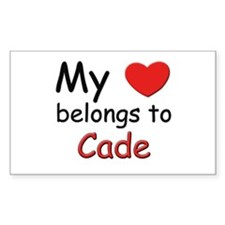 My heart belongs to cade Rectangle Decal