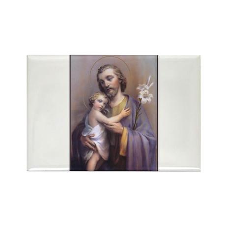 St. Joseph Rectangle Magnet
