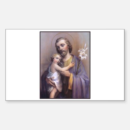 St. Joseph Rectangle Decal