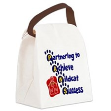 PAWS prints down Canvas Lunch Bag