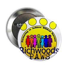 """PAWS rainbow people 2.25"""" Button"""