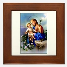 Saint Joseph Framed Tile