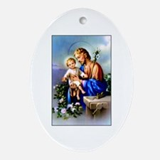 Saint Joseph Oval Ornament