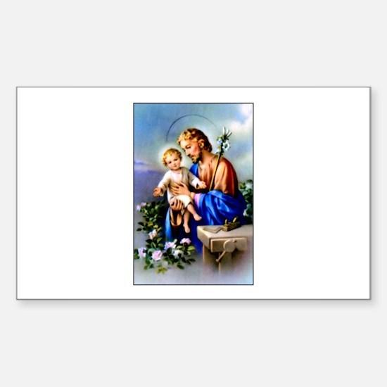 Saint Joseph Rectangle Decal