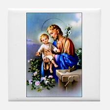 Saint Joseph Tile Coaster
