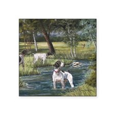 "German Shorthaired Pointerd Square Sticker 3"" x 3"""
