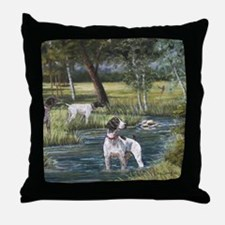 German Shorthaired Pointerd Throw Pillow