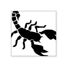 "scorpion Square Sticker 3"" x 3"""