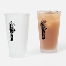 la_llorona_behave_black Drinking Glass