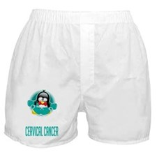 Cervical-Cancer-Boxing-Penguin-blk Boxer Shorts
