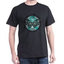 Cervical-Cancer-Butterfly-Tribal-2 T-Shirt