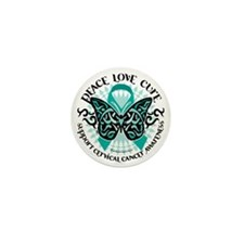 Cervical-Cancer-Butterfly-Tribal-2 Mini Button