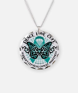Cervical-Cancer-Butterfly-Tr Necklace
