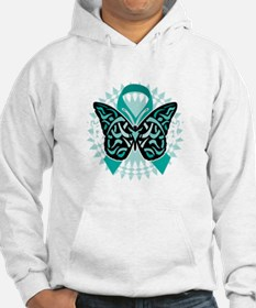 Cervical-Cancer-Butterfly-Tribal Hoodie