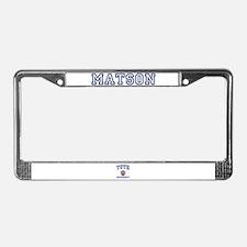 MATSON University License Plate Frame