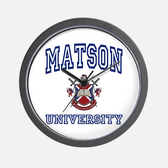 MATSON University Wall Clock