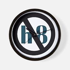 no h8 Wall Clock
