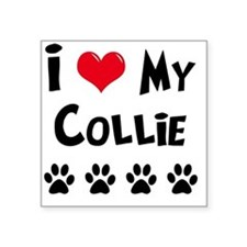 "I-Love-My-Collie Square Sticker 3"" x 3"""