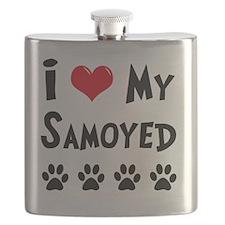 I-Love-My-Samoyed Flask