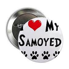 "I-Love-My-Samoyed 2.25"" Button"