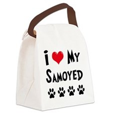 I-Love-My-Samoyed Canvas Lunch Bag
