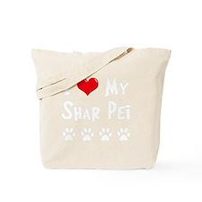 I-Love-My-Shar-Pei-dark Tote Bag
