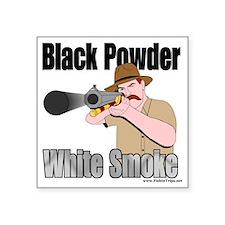 "white smoke Square Sticker 3"" x 3"""