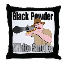 white smoke Throw Pillow