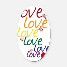 love is love2 Oval Car Magnet
