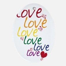 love is love2 Oval Ornament