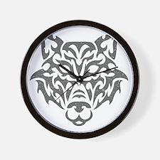 wolf-tribal-gray Wall Clock