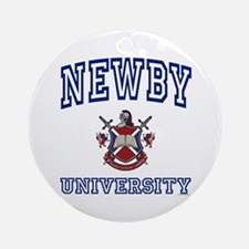 NEWBY University Ornament (Round)